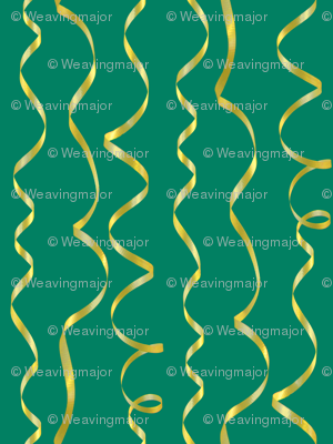 yellow ribbons on blue-green