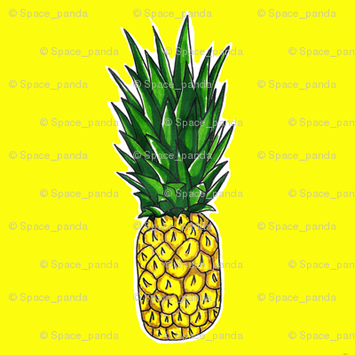 Pineapple on Yellow