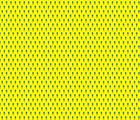 Pineapple on Yellow fabric by space_panda on Spoonflower - custom fabric