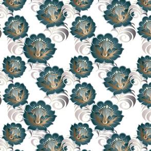 Green-Silver-flowers-BKGRD-Tile