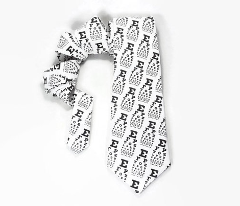 mini vision chart, black and white