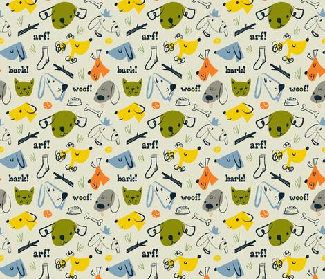 ruff day fabric by shindigdesignstudio on Spoonflower - custom fabric