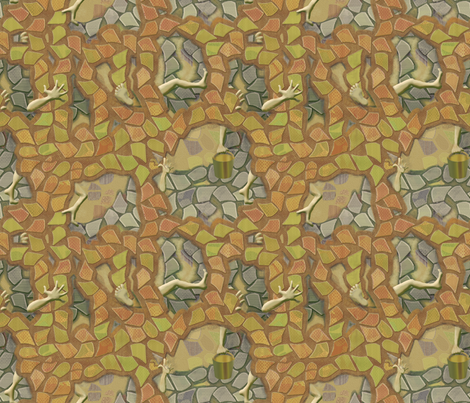 Precarious Sand-Building fabric by wren_leyland on Spoonflower - custom fabric