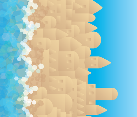 Sandcastles fabric by relk on Spoonflower - custom fabric