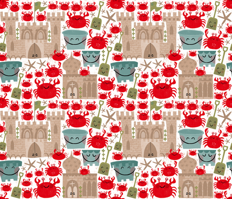 beach brigade fabric by pattyryboltdesigns on Spoonflower - custom fabric