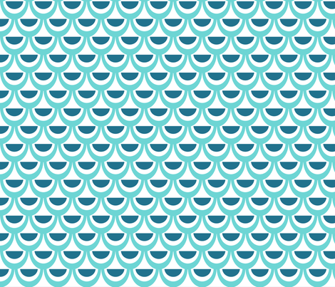 Wavey ocean fabric by cjldesigns on Spoonflower - custom fabric