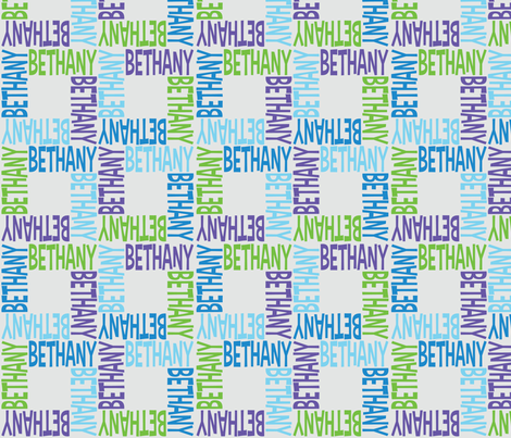 personalised name design - 4WAY no pic fabric by spunkymonkees on Spoonflower - custom fabric