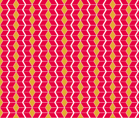 Red and Yellow Pepper Chevrons fabric by evenspor on Spoonflower - custom fabric