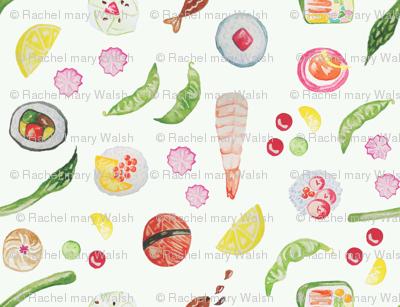 Watercolour Sushi