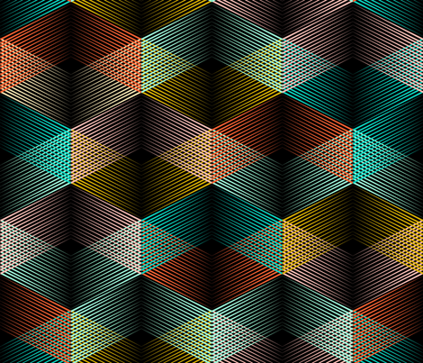Crossing lines (black background small) fabric by les_motifs_de_sarah on Spoonflower - custom fabric