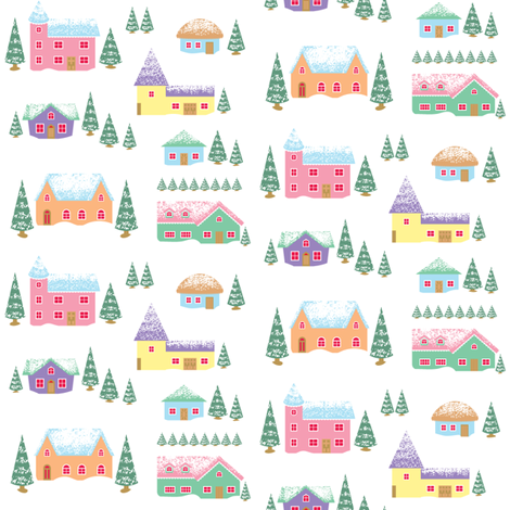Vintage Village fabric by amyperrotti on Spoonflower - custom fabric