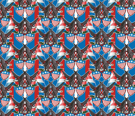 bunting fabric by hannafate on Spoonflower - custom fabric