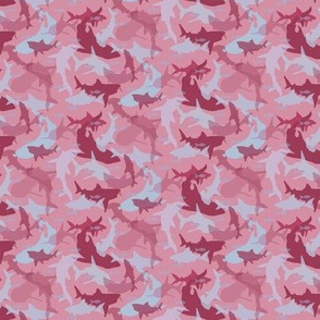 Oh My Sharks! Pattern in Red & Purple Hues