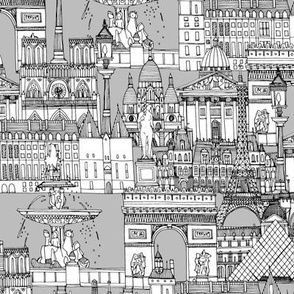Paris toile monochrome