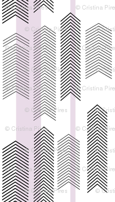chevron stripe in lavender SMALLSCALE