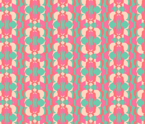 1970 Pink and Teal fabric by anniewilsey on Spoonflower - custom fabric