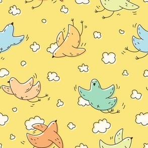 Colorful cute birds