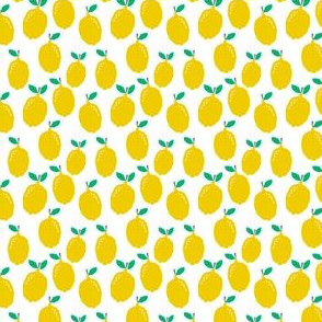 lemon - fruit yellow tropical citrus summer fruit print for baby tiny