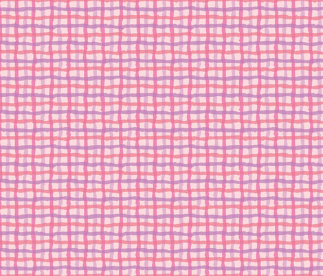 Pink_Beach_Gingham-01 fabric by jenn_borek on Spoonflower - custom fabric