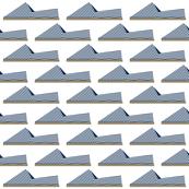 Espadrilles Navy and White Stripes