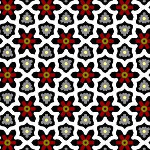 Geometric wood flower