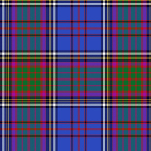 Anderson tartan, blue/green/purple, 12""