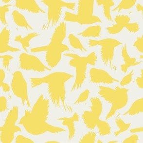 flock in lemon and cream