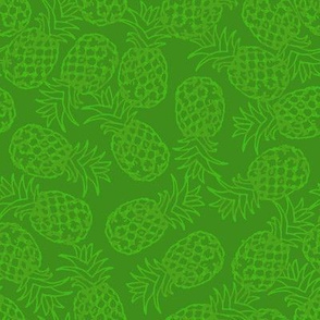 Green pineapple toss