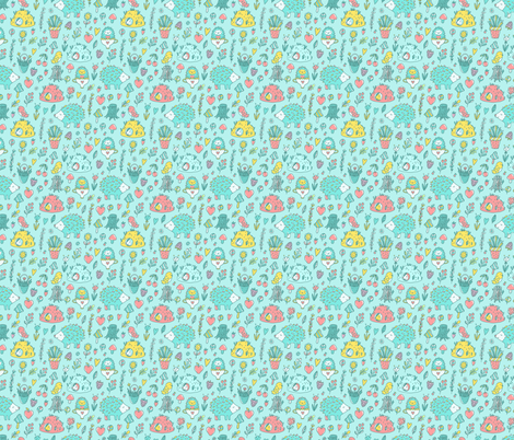 cute hedgehogs fabric by kostolom3000 on Spoonflower - custom fabric