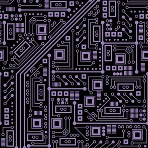 Evil Robot Circuit Board (Purple)