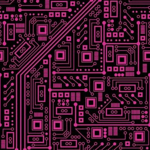 Evil Robot Circuit Board (Pink)