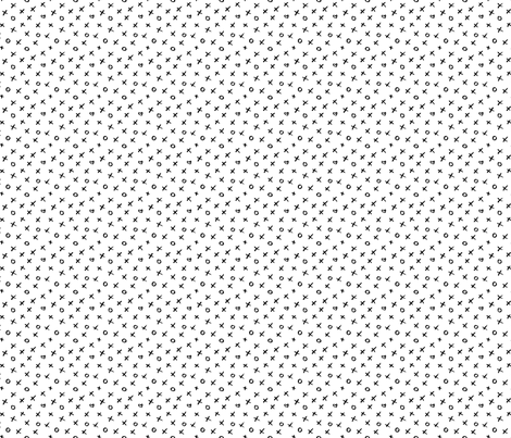 black white xoxo medium allover fabric by primuspattern on Spoonflower - custom fabric