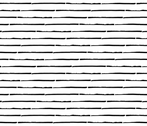 black white striped horizontal fabric by primuspattern on Spoonflower - custom fabric