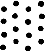 black white huge polka dot