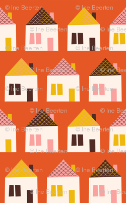 Around Town Orange Houses