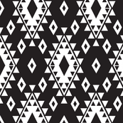 Tribal Aztec-Black & White