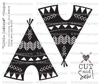Cut & Sew Teepee-Black & White