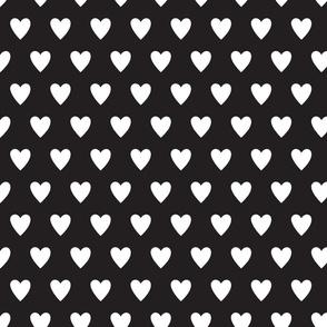 hearts-black & White
