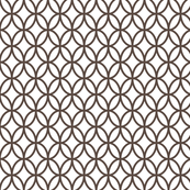 Geometric Circles - Brown
