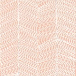 Herringbone Peach - 3 in wide