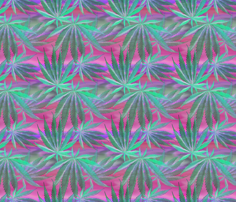 Cannabis Leaf Silk fabric by camomoto on Spoonflower - custom fabric