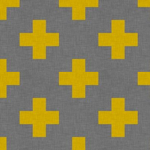 plus one linen yellow small