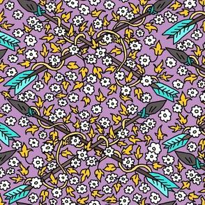 Arrows & Flowers Purple