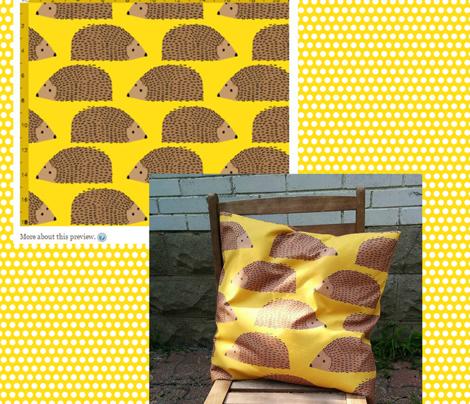 Big Hedgehogs on Yellow