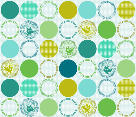 HedgehogsDots fabric by beckarahn on Spoonflower - custom fabric
