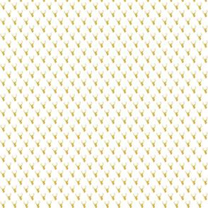 Gold Deer Silhouette mini scale