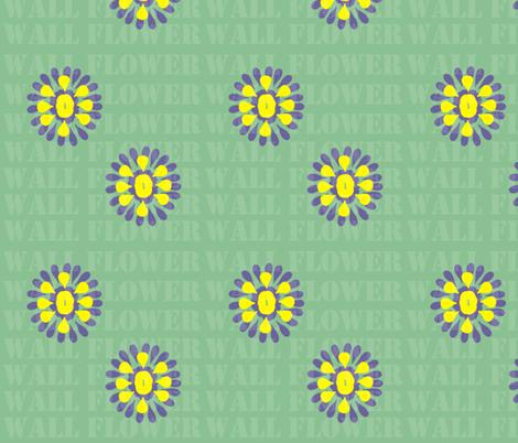 Wall flower fabric llchemi spoonflower - Wall flower design ...