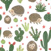 Prickly Friends - Hedgehog & Cacti