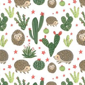 Prickly Friends - Hedgehog & Cacti