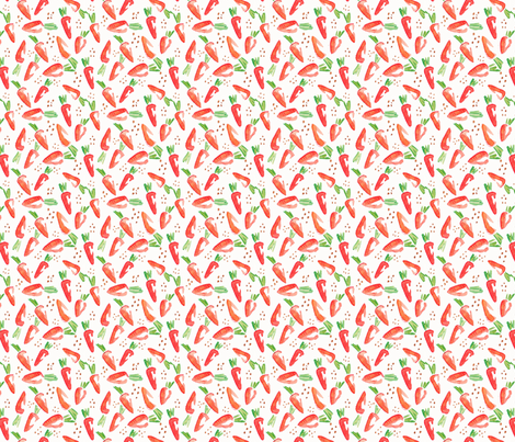 Carrots fabric by maggie_lam_surface_design on Spoonflower - custom fabric